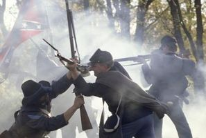 Liste over tilfangetagne konfødererede slaget flag
