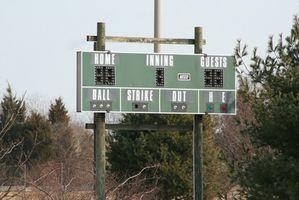 Baseball resultattavlen oplysninger