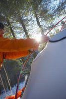 Instruktioner for at konfigurere et sommerhus telt
