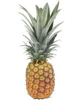 Sådan skræl og centrale ananas